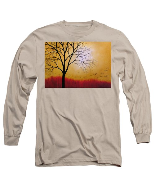 Long Sleeve T-Shirt featuring the painting Abstract Original Tree Painting Summers Anticipation By Amy Giacomelli by Amy Giacomelli