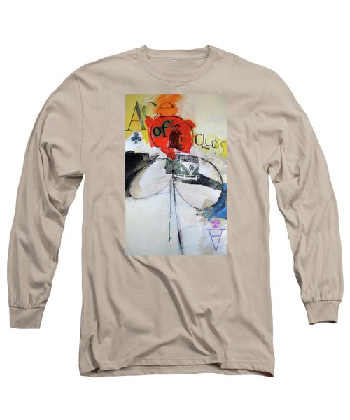 Long Sleeve T-Shirt featuring the painting Ace Of Clubs 36-52 by Cliff Spohn