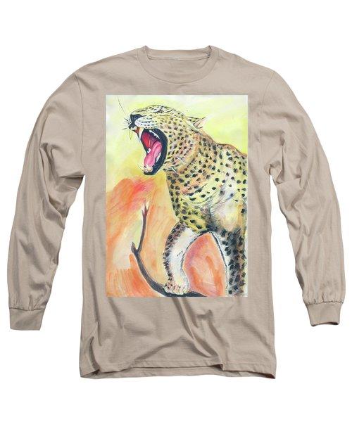 African Leopard Long Sleeve T-Shirt