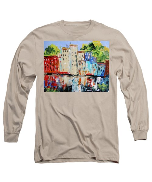 After Hours-reflection Long Sleeve T-Shirt by John Williams
