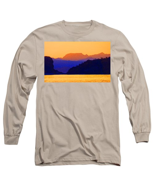 Long Sleeve T-Shirt featuring the photograph Agua Verde Abstract by Anne Mott