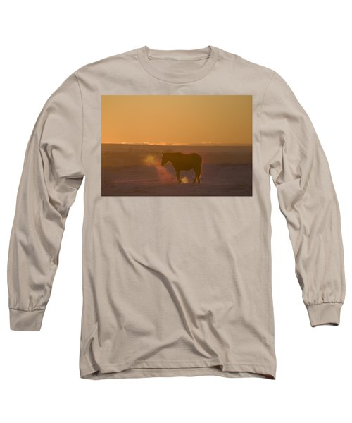 Alberta, Canada Horse At Sunset Long Sleeve T-Shirt