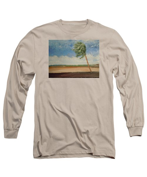 Long Sleeve T-Shirt featuring the painting Alone In Paradise  by Dan Whittemore