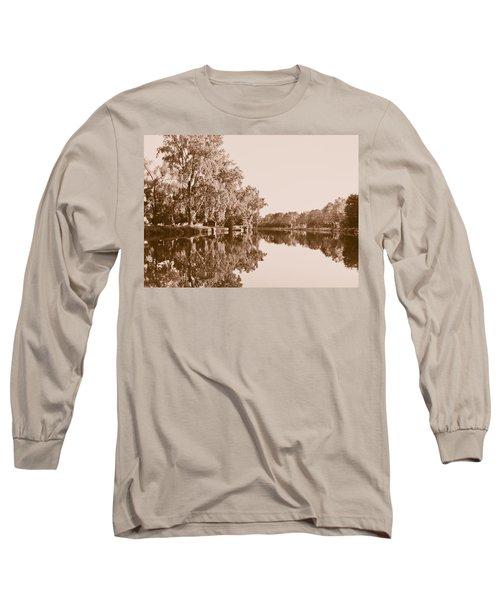 Amber Reflection Long Sleeve T-Shirt by Sara Frank
