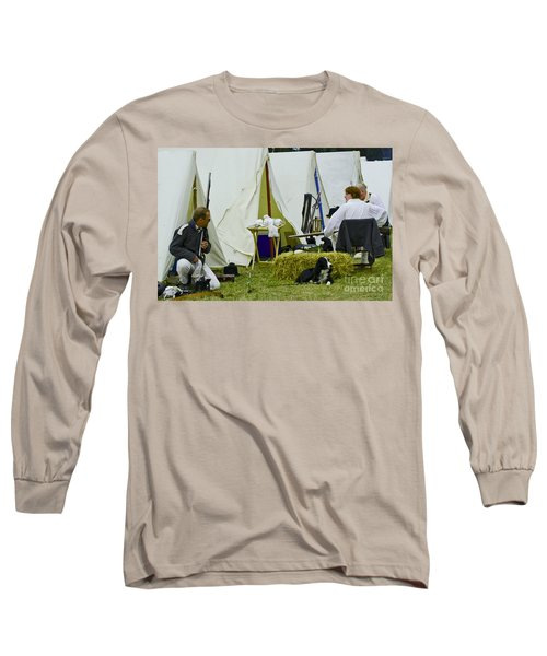 Long Sleeve T-Shirt featuring the photograph American Camp by JT Lewis
