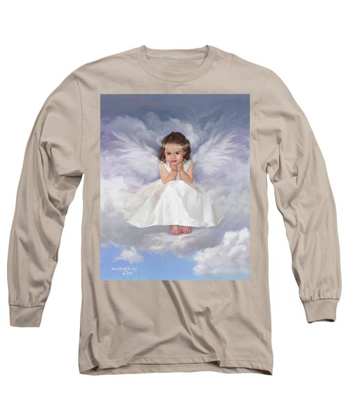 Long Sleeve T-Shirt featuring the painting Angel 2 by Rob Corsetti