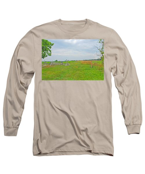 Long Sleeve T-Shirt featuring the photograph Antietam Battle Of The Cornfield by Cindy Manero