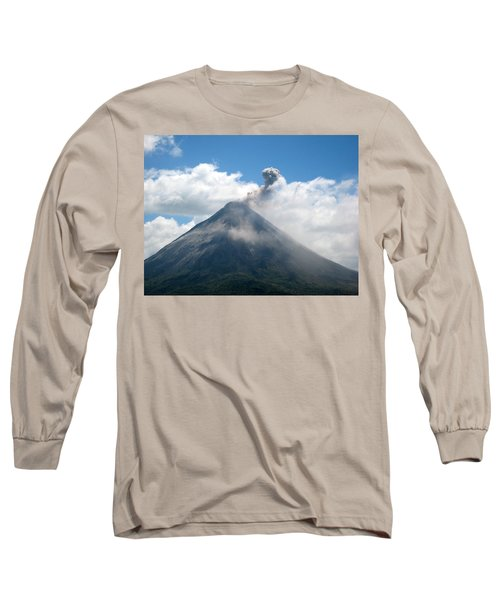 Long Sleeve T-Shirt featuring the photograph Arenal Eruption by Eric Tressler