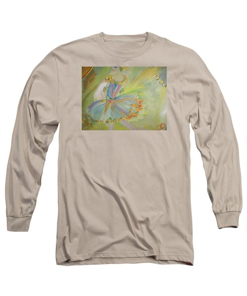 Art Deco Ballet Long Sleeve T-Shirt by Judith Desrosiers
