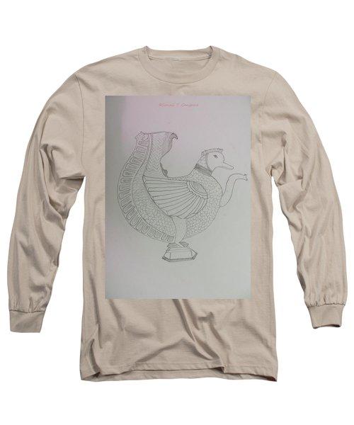 Long Sleeve T-Shirt featuring the painting Artistic Teapot by Sonali Gangane