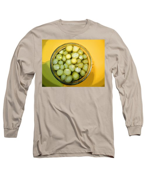 Long Sleeve T-Shirt featuring the photograph Asparagus In A Jar by Kym Backland