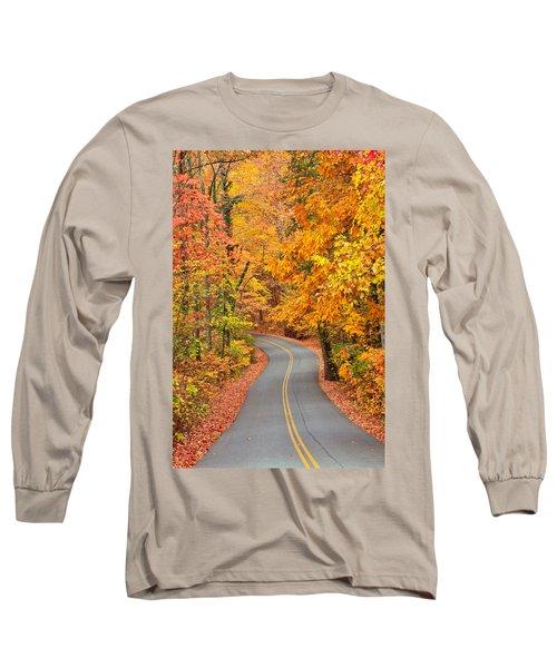 Autumn Drive Signal Mountain Long Sleeve T-Shirt