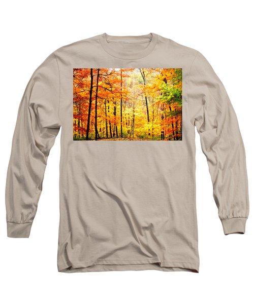 Long Sleeve T-Shirt featuring the photograph Autumn Forest by Randall Branham