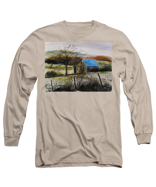Long Sleeve T-Shirt featuring the painting Autumn Light By John Williams by John Williams