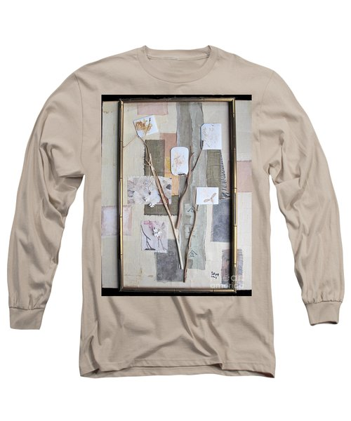 Long Sleeve T-Shirt featuring the mixed media Autumn by Sandy McIntire