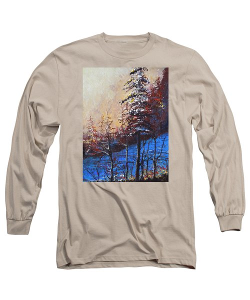 Long Sleeve T-Shirt featuring the painting Autumn Silence by Dan Whittemore