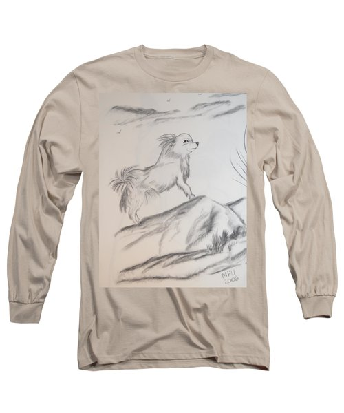 Aye Chihuahua Long Sleeve T-Shirt by Maria Urso