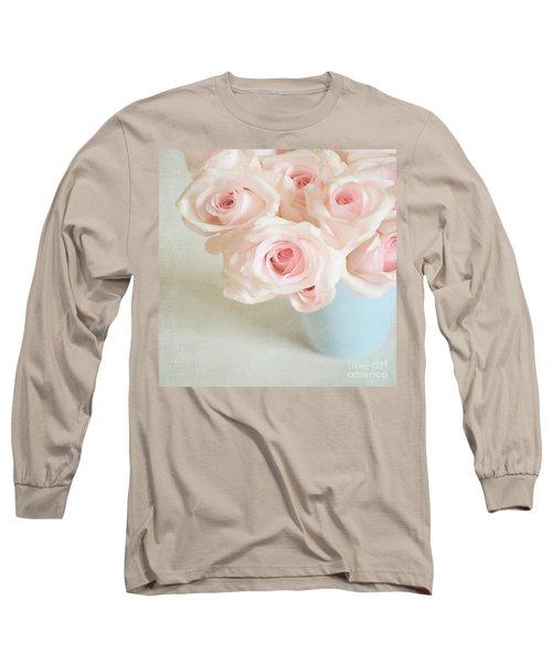 Baby Pink Roses Long Sleeve T-Shirt by Lyn Randle