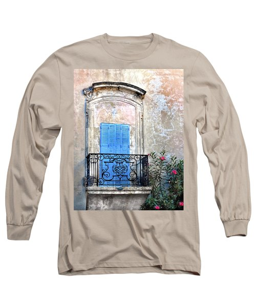 Long Sleeve T-Shirt featuring the photograph Balcony Provence France by Dave Mills