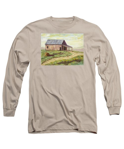 Barn On The Ridge Long Sleeve T-Shirt by Alan Mager