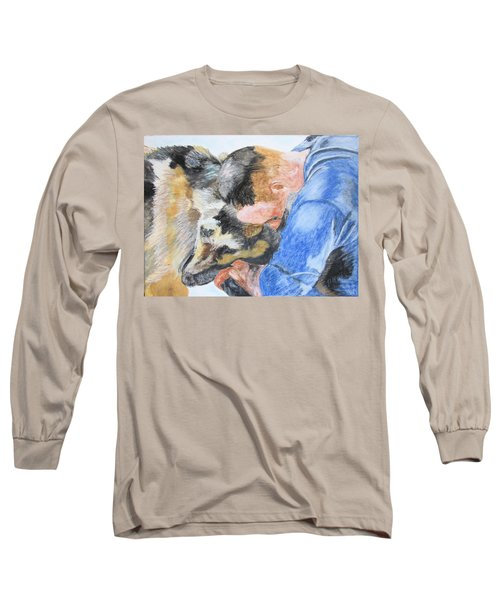 Best Friends - Oil Pastels Study Long Sleeve T-Shirt