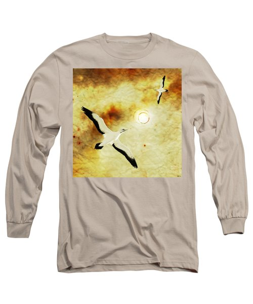 Long Sleeve T-Shirt featuring the digital art Birds Of The Sun by Phil Perkins