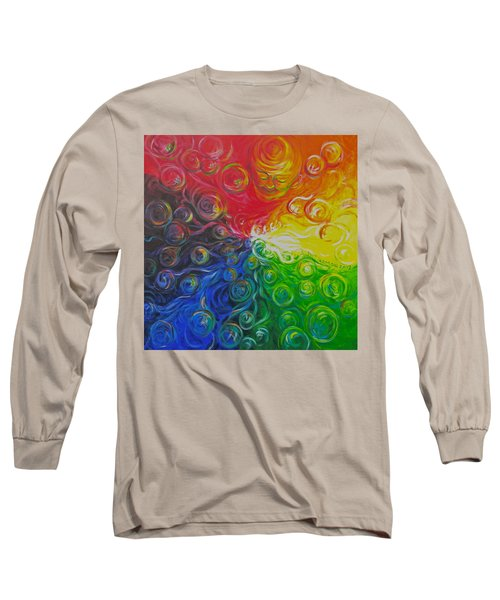 Birth Of Color Long Sleeve T-Shirt by Jeanette Jarmon