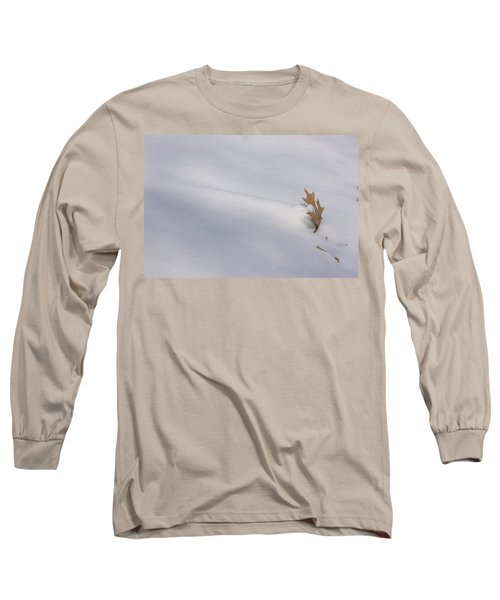 Blown Snow And Oak Leaf Long Sleeve T-Shirt