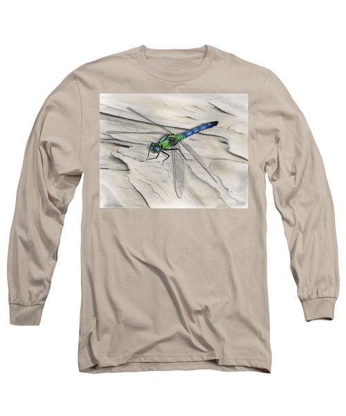 Blue-green Dragonfly Long Sleeve T-Shirt