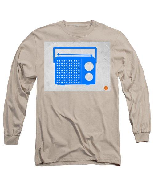 Blue Transistor Radio Long Sleeve T-Shirt