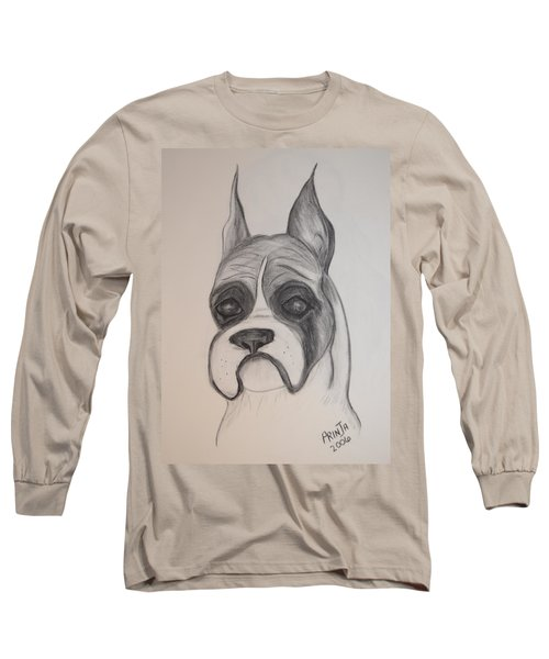 Boxer Long Sleeve T-Shirt by Maria Urso