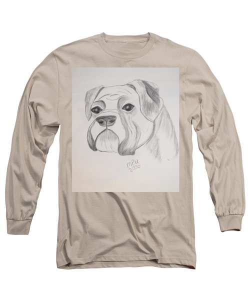 Boxer No Crop Long Sleeve T-Shirt by Maria Urso