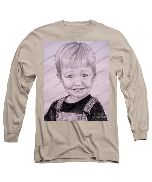 Long Sleeve T-Shirt featuring the drawing Brady by Julie Brugh Riffey