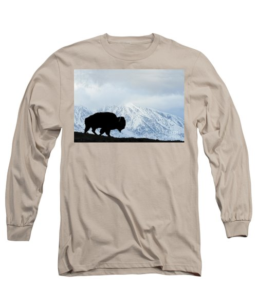Long Sleeve T-Shirt featuring the photograph Buffalo Suvived Another Yellowstone Winter by Dan Friend