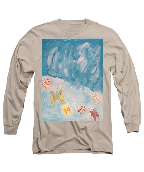 Long Sleeve T-Shirt featuring the painting Butterfly Flight by Sonali Gangane