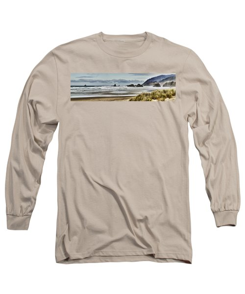 By The Sea - Seaside Oregon State  Long Sleeve T-Shirt by James Heckt