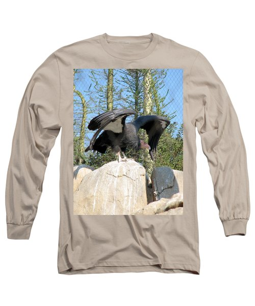 Long Sleeve T-Shirt featuring the photograph California Condor by Carla Parris