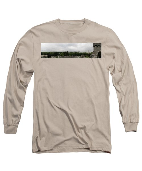 Cardiff Castle Panorama Long Sleeve T-Shirt