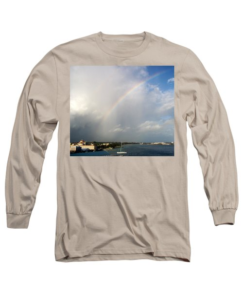 Long Sleeve T-Shirt featuring the photograph Caribbean Rainbow by Cynthia Amaral