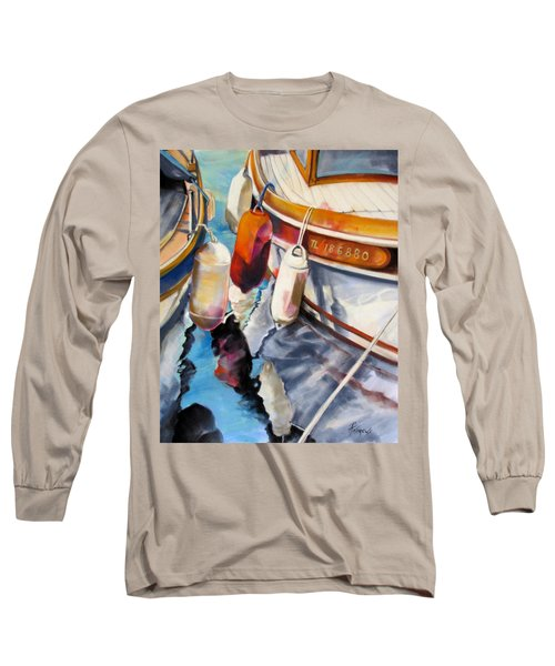 Long Sleeve T-Shirt featuring the painting Cassis Castaways by Rae Andrews