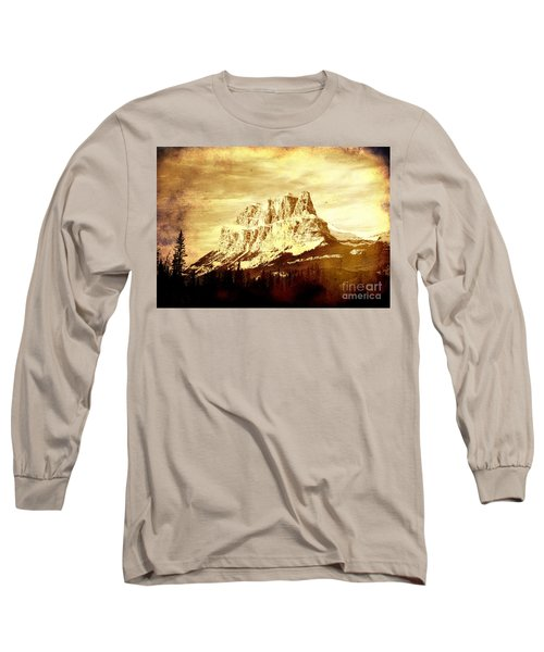 Castle Mountain Long Sleeve T-Shirt by Alyce Taylor