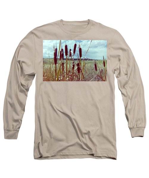 Long Sleeve T-Shirt featuring the photograph Cat Tails by Bonfire Photography