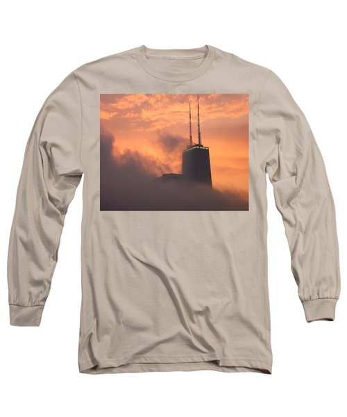 Chicago Dusk Long Sleeve T-Shirt by Valentino Visentini