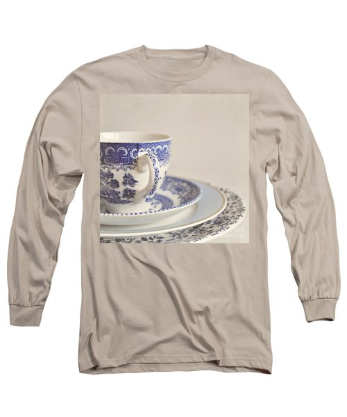 China Cup And Plates Long Sleeve T-Shirt by Lyn Randle