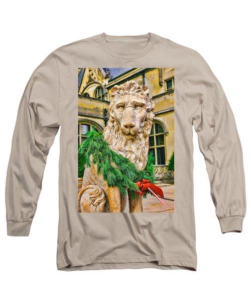 Christmas Lion At Biltmore Long Sleeve T-Shirt