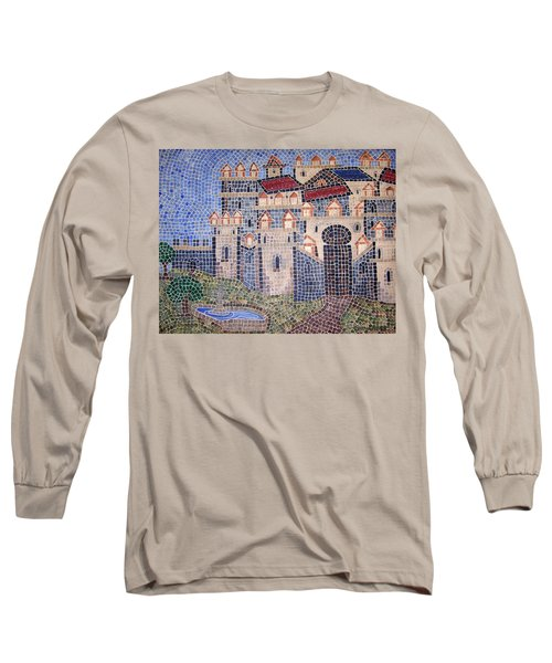 Long Sleeve T-Shirt featuring the painting City Of Granada Old Map by Cynthia Amaral