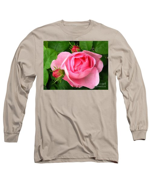 Rose And Rose Buds Long Sleeve T-Shirt