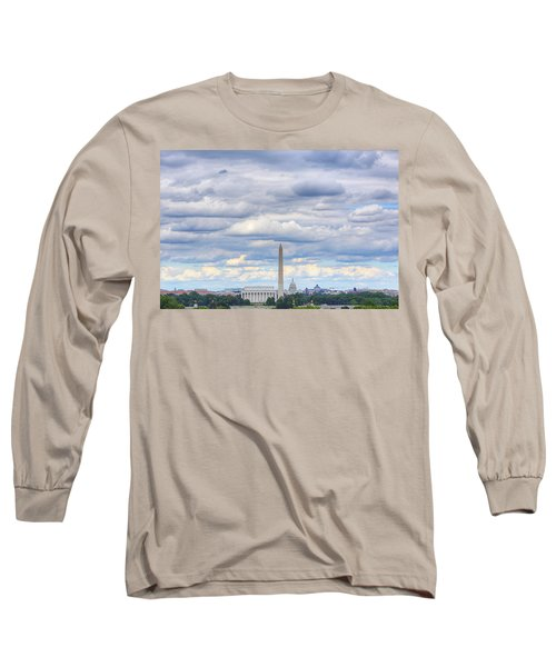 Clouds Over Washington Dc Long Sleeve T-Shirt