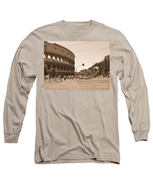 Colosseum In Sepia Long Sleeve T-Shirt