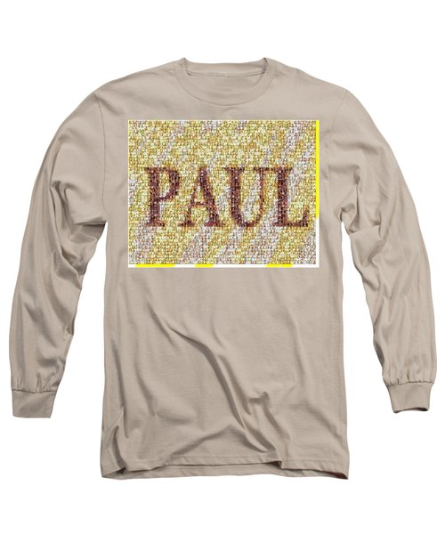 Custom Paul Mosaic Taylor Swift Long Sleeve T-Shirt by Paul Van Scott